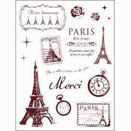 Gelová razítka - Paříž velká 14 x 18 cm ostatní