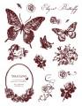 Gelová razítka - sada Motýlci a ornamenty 14x18cm