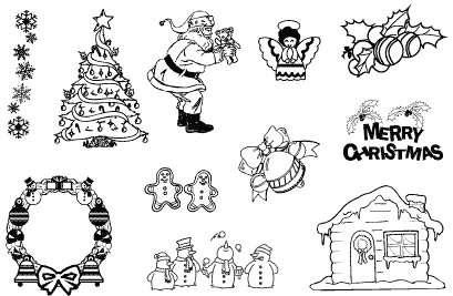 Gelová razítka - Vánoce-merry christmas 10 x 15 cm ostatní