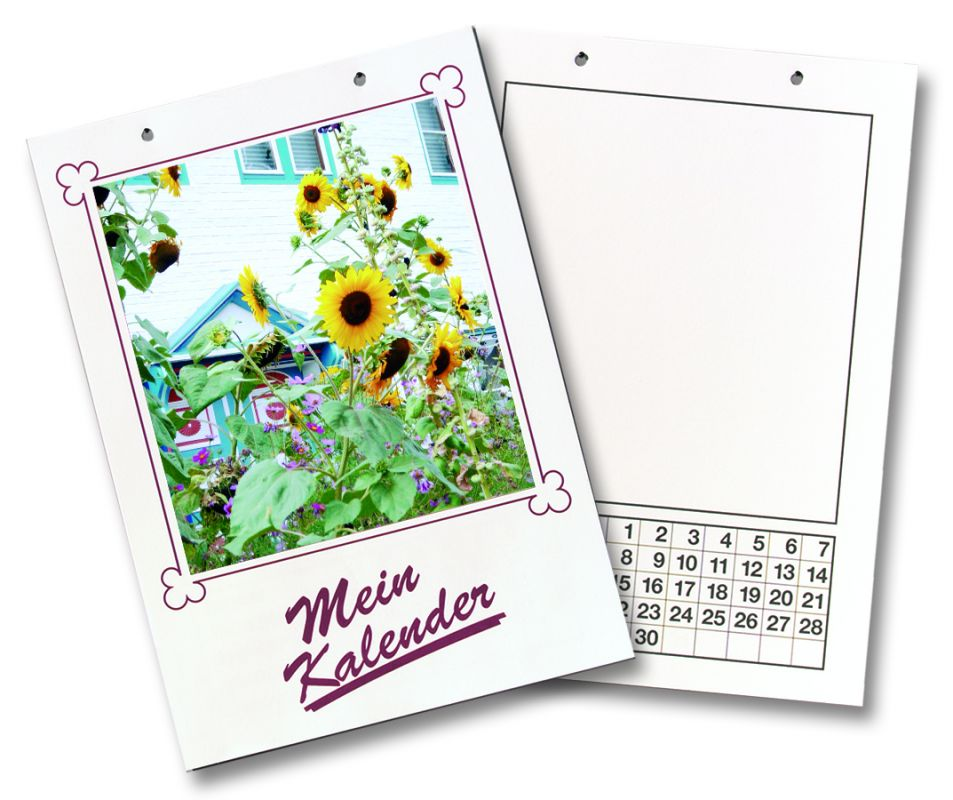 Kalendář k dotvoření - 130 g/m2, DIN A4 - bílý Folia