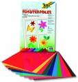 Okenní folie - elektrostatická - 23 x 33 cm, 10 listů v 10ti barvách- 10 listů
