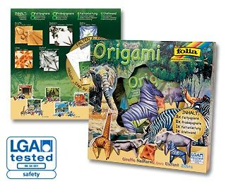 Origami - sada na výrobu zvířátek Safari Folia