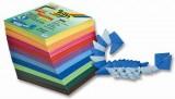 Papíry na skládání Origami - 500 listů 5x5cm