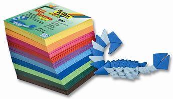 Papíry na skládání Origami 500 listů, 5x5 cm v 10-ti barvách, 70g - mix barev Folia