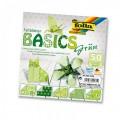 Papíry na skládání Origami - zelené 50 listů 15x15 cm