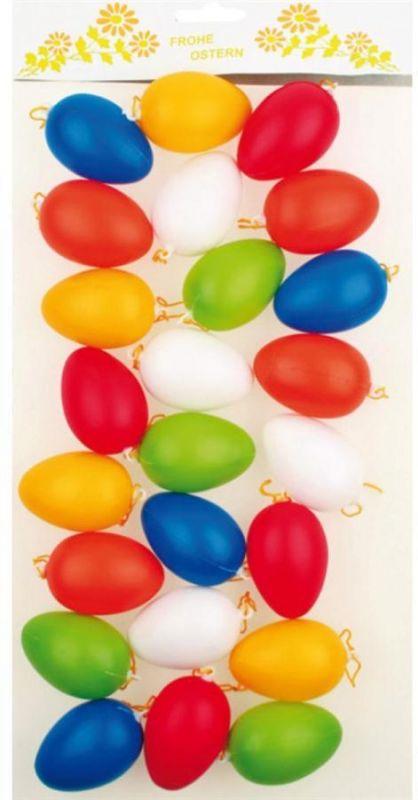Plastová vajíčka (vejce) 6 cm, 24 ks mix barev