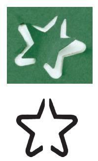 Razidlo (děrovačka, raznice) hvězdička obrysová 1,5cm HEYDA