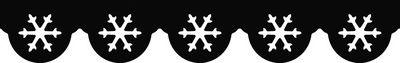 Razidlo (děrovačka, raznice) okrajové - bordura vločky HEYDA