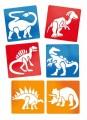 Kreslící šablony 6 ks - Dinosauři 145 x145 mm