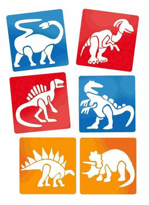 Kreslící šablony 6 ks - Dinosauři 145 x145 mm SMTCreatoys