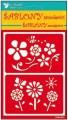 Samolepící flexi šablona květiny 20x11,5cm