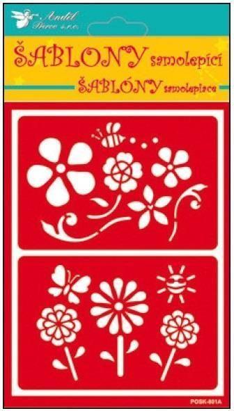 Samolepící flexi šablona květiny 20x11,5cm AMOS
