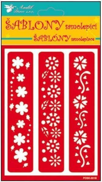 Samolepící flexi šablona květiny bordury 20x11,5cm AMOS