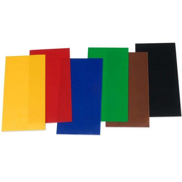 Voskové pláty na dekoraci svíček mix základních barev (6ks) Knorr Prandell