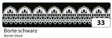 Washi Tape - dekorační lepicí páska - 10mx15mm -černá s bordurou