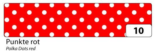 Washi Tape - dekorační lepicí páska - 10mx15mm -červená a bílé puntíky Folia