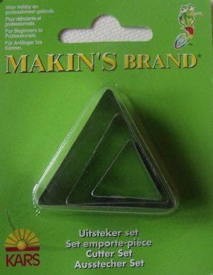 Vykrajovátka sada trojúhelníků 3ks Makin's