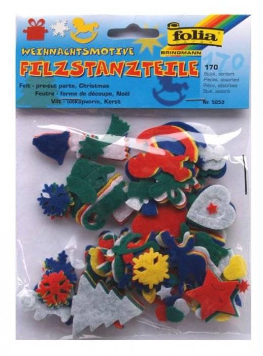 Filcové obrázky vánoční motivy Folia