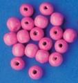 Dřevěné korálky 10mm 200ks růžové