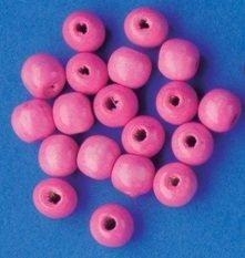 Dřevěné korálky 10mm 200ks růžové ostatní