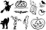 Gelová razítka - Halloween 10 x 15 cm ostatní