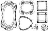 Gelová razítka - rámečky srdce 15x10 cm