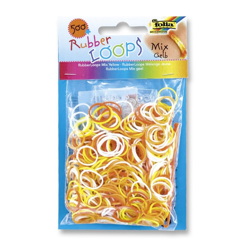 Gumičky Loops - 500ks žlutý mix