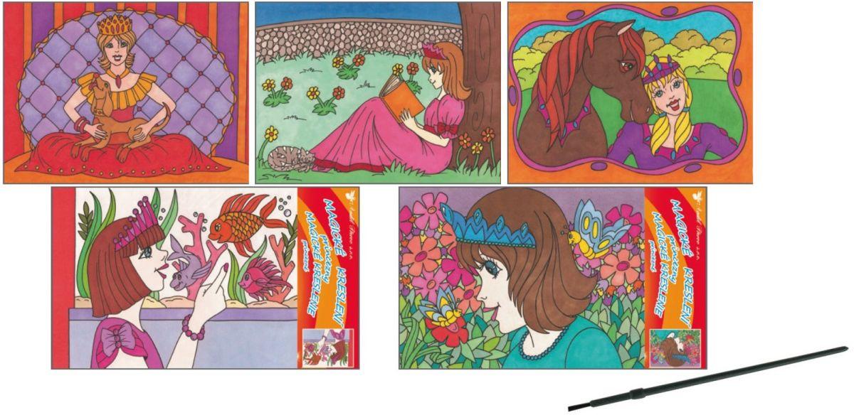 Magické kouzelné kreslení princezny 28x21,5cm blistr ostatní