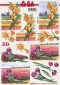 Narcisy a tulipány - 3D papír