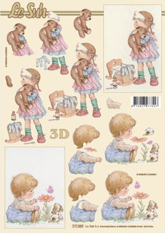 Nemocný medvídek - 3D papír Le Suh