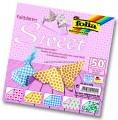 Papíry na skládání Origami - motiv sladký 50 listů 15x15 cm
