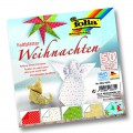 Papíry na skládání Origami - motiv Vánoce 50 listů 15x15 cm