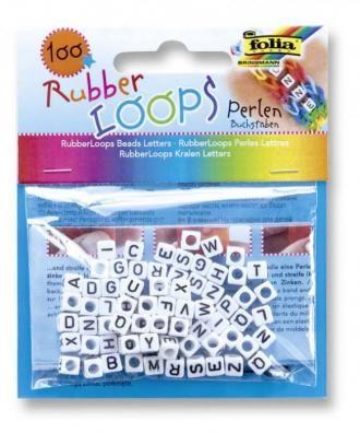 Písmena Loops pro gumičky - 100ks Folia