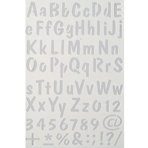 Šablona abeceda Efco