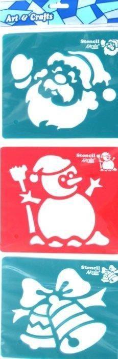 Šablony 3ks - Santa, sněhulák, zvonky SMTCreatoys