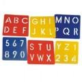 Sada plastových šablon Primo 6ks abeceda MOROCOLOR Italia