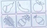 Sada plastových šablon Primo 6ks Ovoce MOROCOLOR Italia