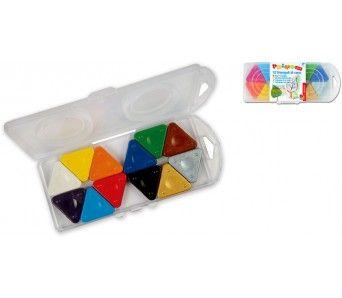 Sada trojboké MAGICKÉ voskovky 12ks plastový box MOROCOLOR Italia