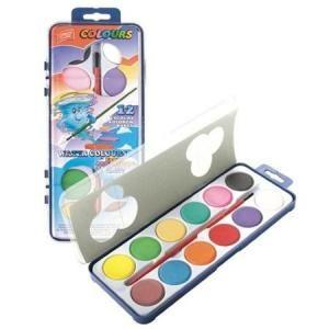 Vodové barvy 12 barev + štětec ostatní