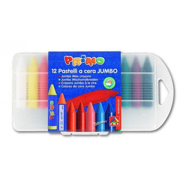 Voskové pastelky Jumbo 12ks PP box MOROCOLOR Italia