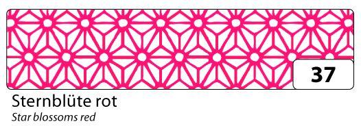 Washi Tape - dekorační lepicí páska - 10 m x 15 mm - bílá a červené hvězdy Folia