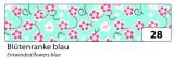 Washi Tape - dekorační lepicí páska - 10mx15mm  květy