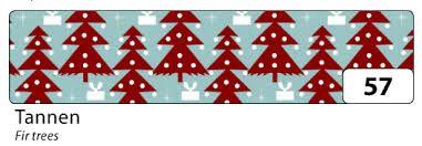 Washi Tape - dekorační lepicí páska - 10mx15mm -vánoční stromky Folia