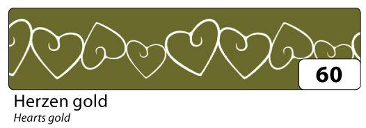 Washi Tape - dekorační lepicí páska - 10mx15mm -zlatá a bílé srdce