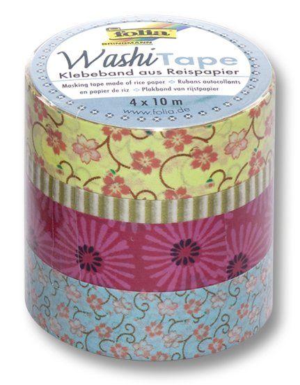 Washi Tape - dekorační lepicí páska - sada Tanec květin Folia