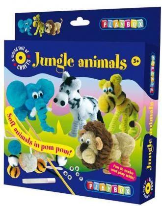Zvířátka z džungle - sada PLAYBOX