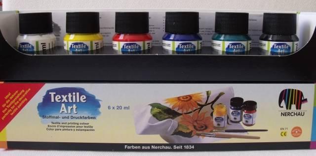Textilní barvy - sada základních barev Textile Art Nerchau