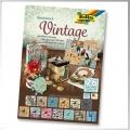 Blok s motivem Vintage 26 archů formátu 24x34 cm