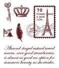 Gelová razítka - Poštovní známka Paříž 7x8,5cm ostatní
