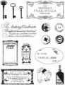 Gelová razítka - sada Francouzské značky 14x18cm